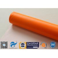 Buy cheap 0.45mm Chemical Corrosion Resistant Orange Silicone Coated Fiberglass Cloth Fabric from wholesalers