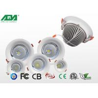 Quality Aluminum round external led downlights , 3W 4W 7W 12W recessed adjustable led downlight for sale