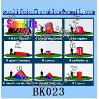 Quality inflatable 44pcs psp paintball bunker Flexible combination for sale