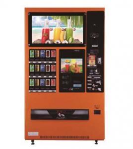 China Orange Snack Drink Beverage Vending Machine Debit / Credit Card / IC card Pay on sale