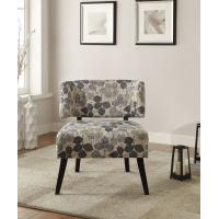 Quality Curta Upholstered Accent Chairs Living Room With Tailored And Leaf Pattern for sale