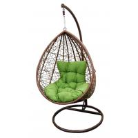 Quality Hand Woven Rattan Hanging Swing Egg Dingle Chair With Cushion For Outdoor for sale