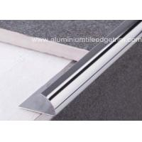 Quality External Corner Stainless Steel Tile Trim , Stainless Steel Quarter Round Trim for sale