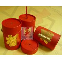 Red Cardboard Cylinder Containers Packaging Box Eco Friendly