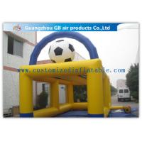 China Yellow Inflatable Sports Games Football Goal Post For Soccer Shooting 8 * 4m on sale