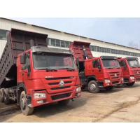 Quality Red Color 336HP HOWO Used Dump Trucks Tipper 6X4 With Good Condition for sale
