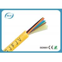 Buy cheap Indoor 8 Core Fiber Optic Cable , Single Mode Fiber Optic Light Cable PVC LSZH from wholesalers