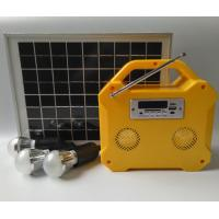 China Camping Small Solar Panel Light Kit Off Grid Solar Power Systems LED Screen on sale