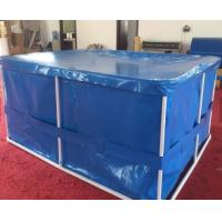 Quality EN14960 Rectangular Tarpaulin Fish Tank Portable Flexible With Cover for sale