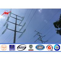 China 16m 20m 25m Galvanized Electrical Power Pole For 110 kv Cables Power Coating on sale