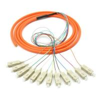 Buy Orange 12 core SC UPC optical fiber patch cord with CE , multimode fiber patch cord at wholesale prices