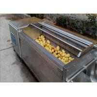 Quality Durable Wheels Potato Washing Machine Continuous Cleaning For Hotels Easy To Move  for sale