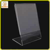 China Customized Tabletop L shape acrylic sign holder on sale