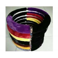 Quality Winter Warm Fuzzy Car Steering Wheel Covers M Size SGS Certification for sale