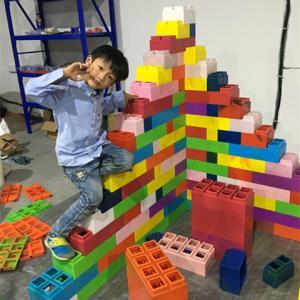 China Zoo Building Block Set Rotational Moulding PP Block Good Quality Plastic Blocks Manufacturer on sale