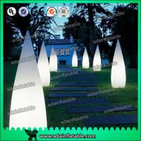 Quality 3M Inflatable Waterdrop Pillar For Festival Event Party Decoration for sale