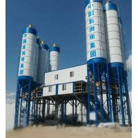 Quality Double Concrete Batching And Mixing Plant , 4 Grids Bin Ready Mix Cement Plant for sale