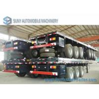 Quality 3 Axles 40 Feet Container Flatbed Semi Trailer , Load 50 Ton for sale
