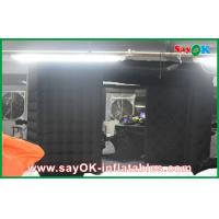 China Black Big Quadrate Strong Oxford Cloth Photobooth , Large Inflatable Photo Booth on sale