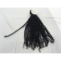 Buy cheap 9a grade fashion natural color jerry curl virgin brazilian/peruvian human hair weft Capelli vergini from wholesalers