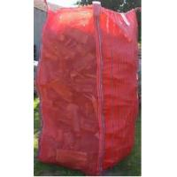 Buy Tall Red Firewood Ventilated Mesh FIBC Bulk Bag With Corner Loops 2202 Lbs at wholesale prices