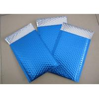 Quality Customized Printing Metallic Bubble Mailing Envelopes Blue Color For Shipping for sale