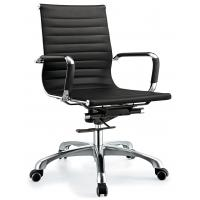 Quality Adjustable Height Staff Office Chair With Wheels Middle Back Waterproof for sale