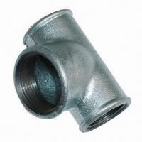 Quality Cast Iron TEE Pipe Fitting in Galvanized, Banded and Beaded for sale