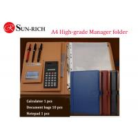 Quality Business Gift A4 size high-grade multifunctional manager folder for sale