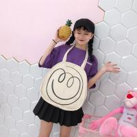 China Spring / summer 2018 new Japanese smiley face printed canvas bag women shoulder bag art handbag on sale