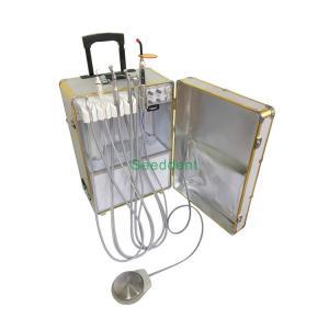 Quality Golden Portable Dental Unit with Air Compressor & Saliva Ejector / Dental Equipment SE-Q040 for sale