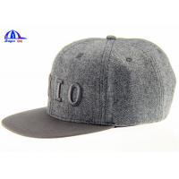 Fashion Adjusted Snapback Embroidery Baseball Cap and Hat with 15% Wool 85% Polyester