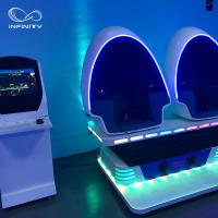 Quality 3 Seats 9D VR Simulator 360 Egg Cinema VR Chair Arcade Game Machine for sale