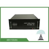 Quality 100Ah 4U Rack 48V Deep Cycle Battery , Lithium Ion Battery For Telecom Application for sale
