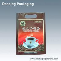Quality Flexible Coffee Bean Bags Packaging Three Side Seal Pouches With Handle Hole for sale
