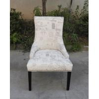 Fabric High Quality Chair for Restaurant, Armrest Dining Chair/Fabric Canteen Wood Carved Chairs