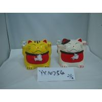 Quality Japan Style Ceramic Fortune Cat Coin Bank for sale