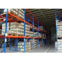 Logistics Pallet Rack Shelving , 2500 Kg Max Load Q345 Steel Shelving Racks