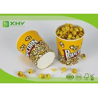 Quality 24oz to 170oz Paper Popcorn Buckets 100% food grade , disposable paper popcorn cup and bucket for sale