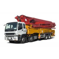 Quality Commercial Cement Mixer ISUZU Chassis 49m Concrete Boom Truck Mounted for sale