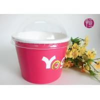 Buy cheap Printing Diposable ice cream paper cups with lids for Frozen Yogurt from wholesalers