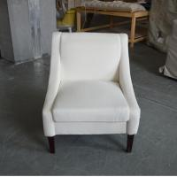 french style solid wood wedding chair linen upholstery armchair