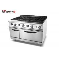 China Heavy Duty Kitchen Equipment , Commercial 6 Burner Range Convection Oven on sale