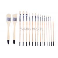 Quality Artist Professional Body Paint Brushes Set With Carrying Case 16Pcs Watercolor Oil Acrylic Painting Brushes for sale