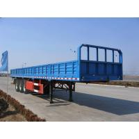 Quality 40 feet-3 Axles-25T-Rail Side Flat Bed container semi trailer for sale