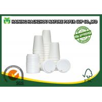 Quality White Double Walled Disposable Coffee Cups , Takeaway Paper Coffee Cups With Lids for sale