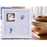 China Eco Friendly Baby Hand and Footprint Photo Frame Ink Pad Kit For Newborn Baby on sale