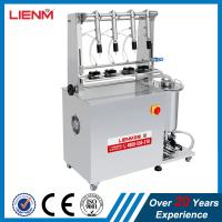 Quality LM Stainless Steel 4 Heads Perfume Bottle Filler with CE Certificate Semi auto 4 Heads Perfume Bottling machine for sale