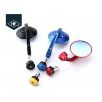 China CNC Colorful Motorcycle Modified Parts 22 7 / 8 Aluminum Bar End Rear Side Mirrors on sale