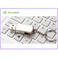 Quality Rotated Metal USB Flash Drives / personalized jump drives Swivel Style for sale